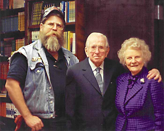 John with Norman Vincent and Ruth Peale.